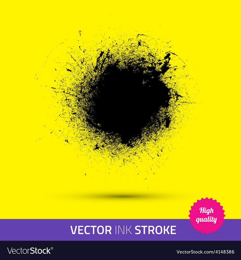 Paint brush ink stroke paint splash vector | Price: 1 Credit (USD $1)