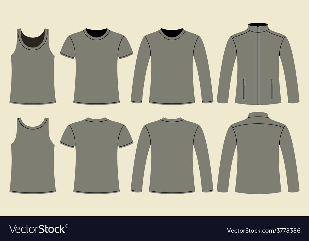 Singlet t-shirt long-sleeved t-shirt and jacket vector | Price: 1 Credit (USD $1)