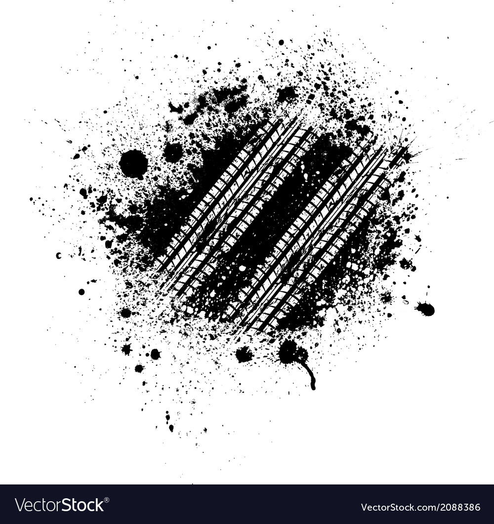 Tire track splash vector | Price: 1 Credit (USD $1)