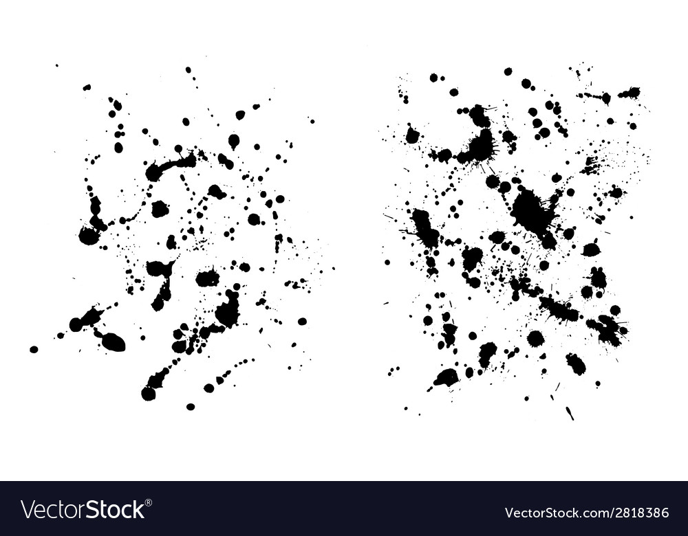 Two grungy ink blob textures for your designs vector | Price: 1 Credit (USD $1)