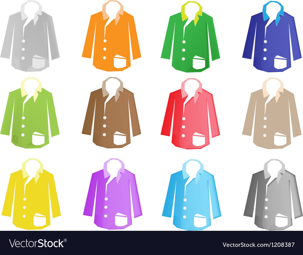 A colorful set of jacket suit vector | Price: 1 Credit (USD $1)