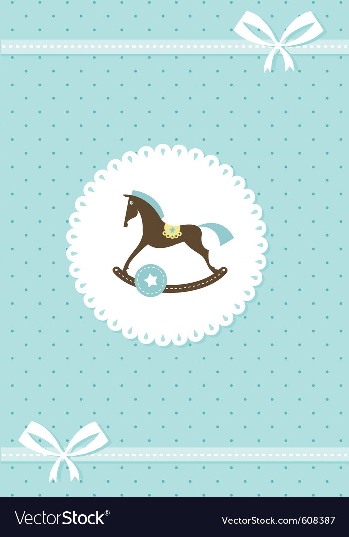 Baby greeting card - boy vector | Price: 1 Credit (USD $1)