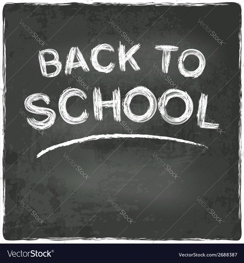 Back to school chalkboard blackboard vector | Price: 1 Credit (USD $1)