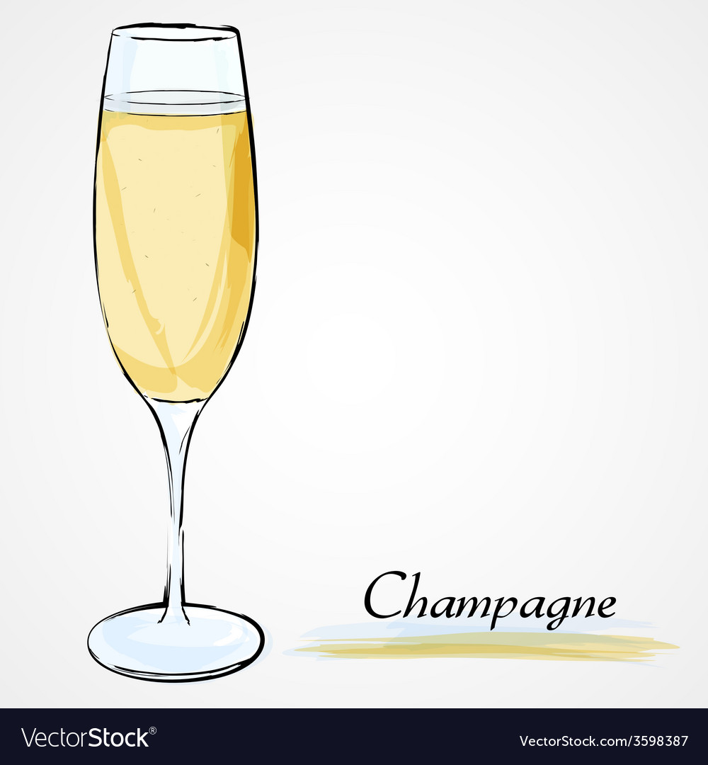Glass of champagne vector | Price: 1 Credit (USD $1)