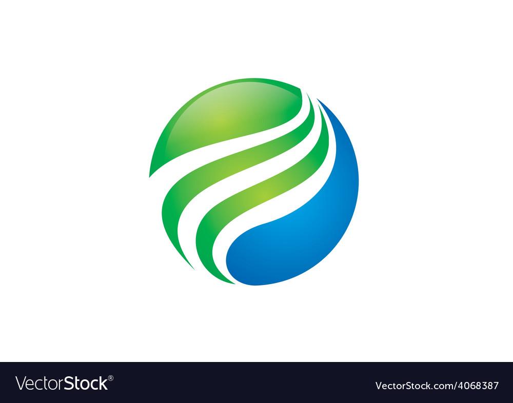 Globe sphere swirl finance logo vector | Price: 1 Credit (USD $1)