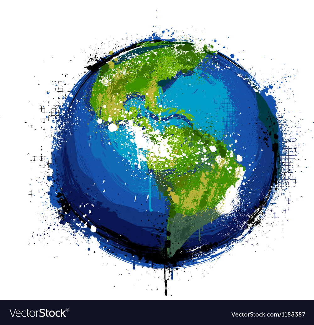 Grungy globe vector | Price: 3 Credit (USD $3)