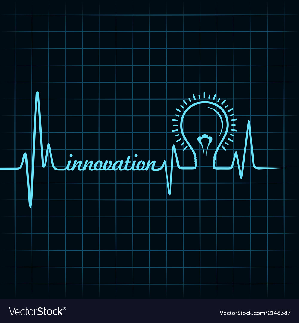 Heartbeat make innovation word and light-bulb vector   Price: 1 Credit (USD $1)