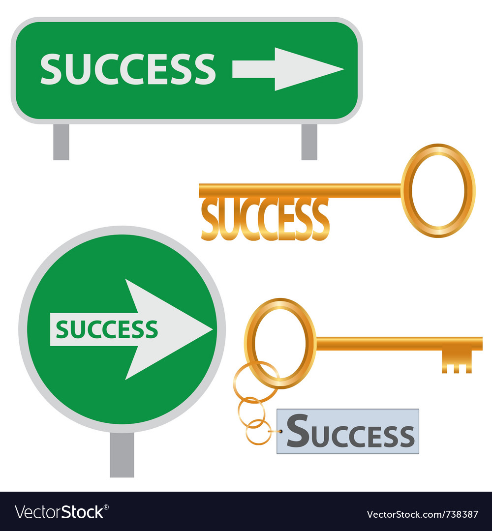 Set of success concept arts vector | Price: 1 Credit (USD $1)