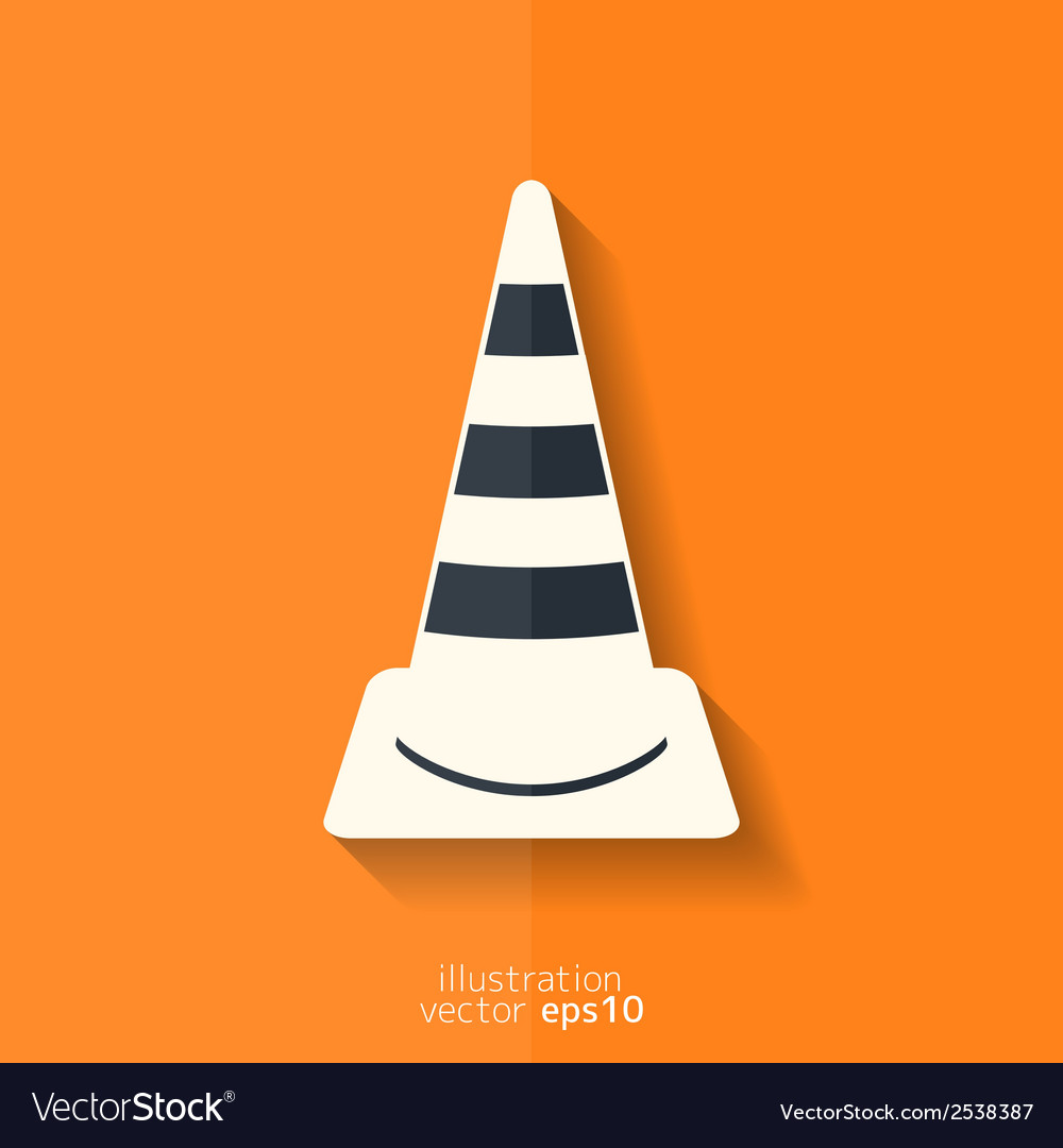 Warning road cones icon vector | Price: 1 Credit (USD $1)