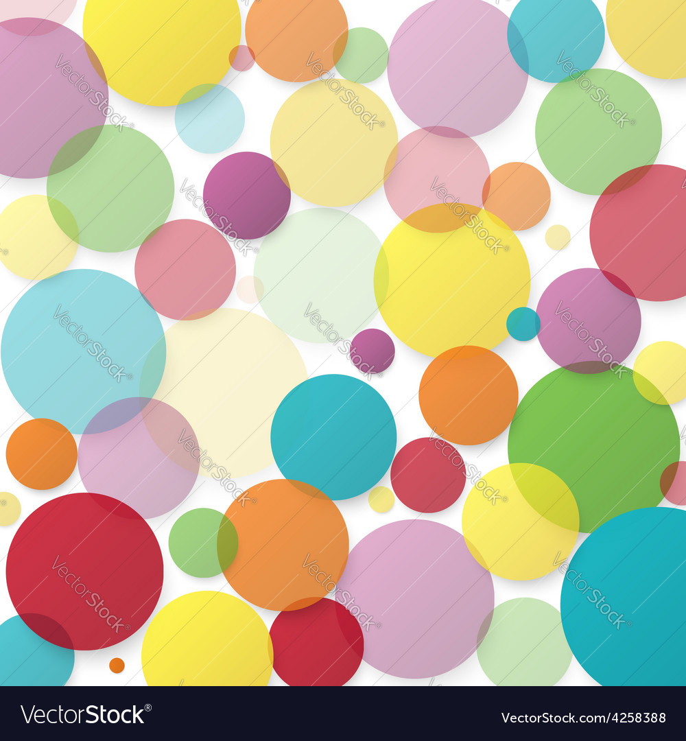 Abstract background with color circles vector | Price: 1 Credit (USD $1)