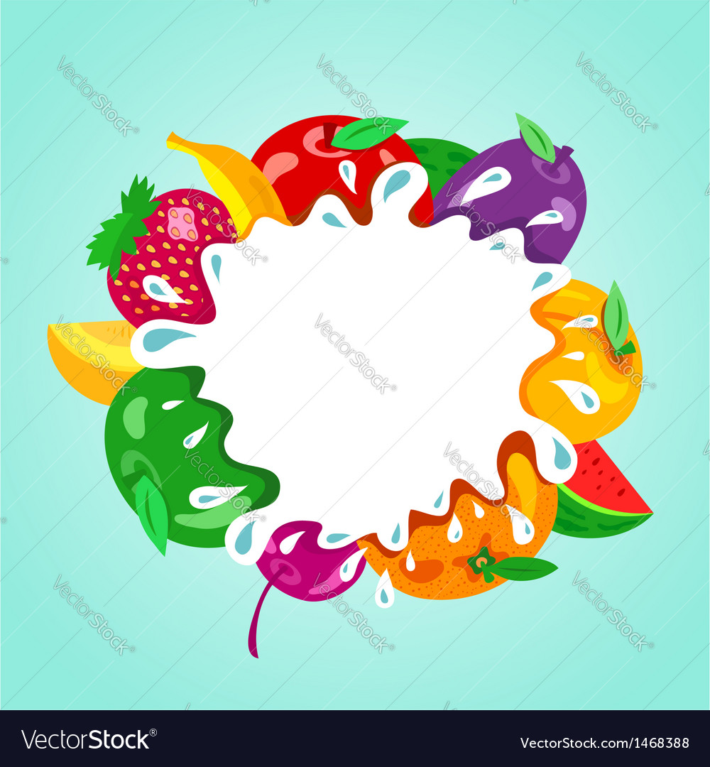 Assorted fruit splash element vector | Price: 1 Credit (USD $1)
