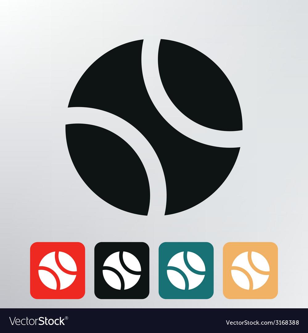 Baseball ball icon vector | Price: 1 Credit (USD $1)