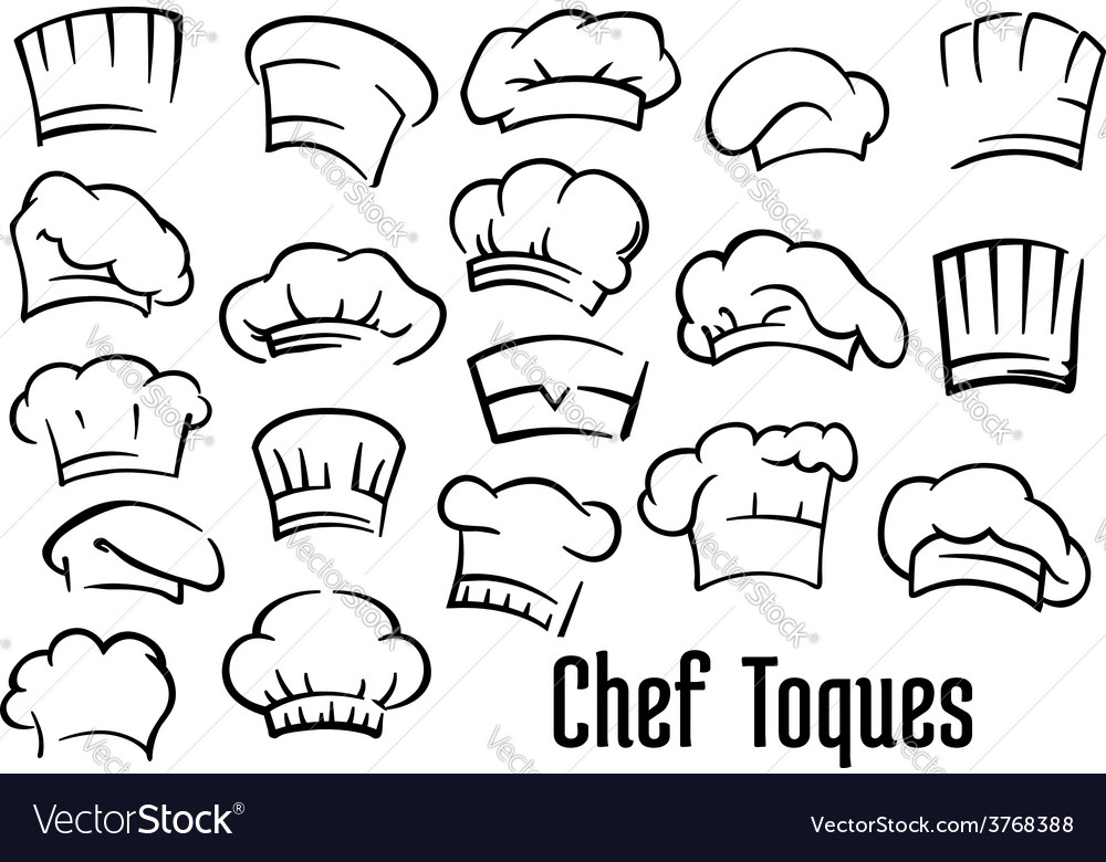 Chef hats and toques set vector | Price: 1 Credit (USD $1)