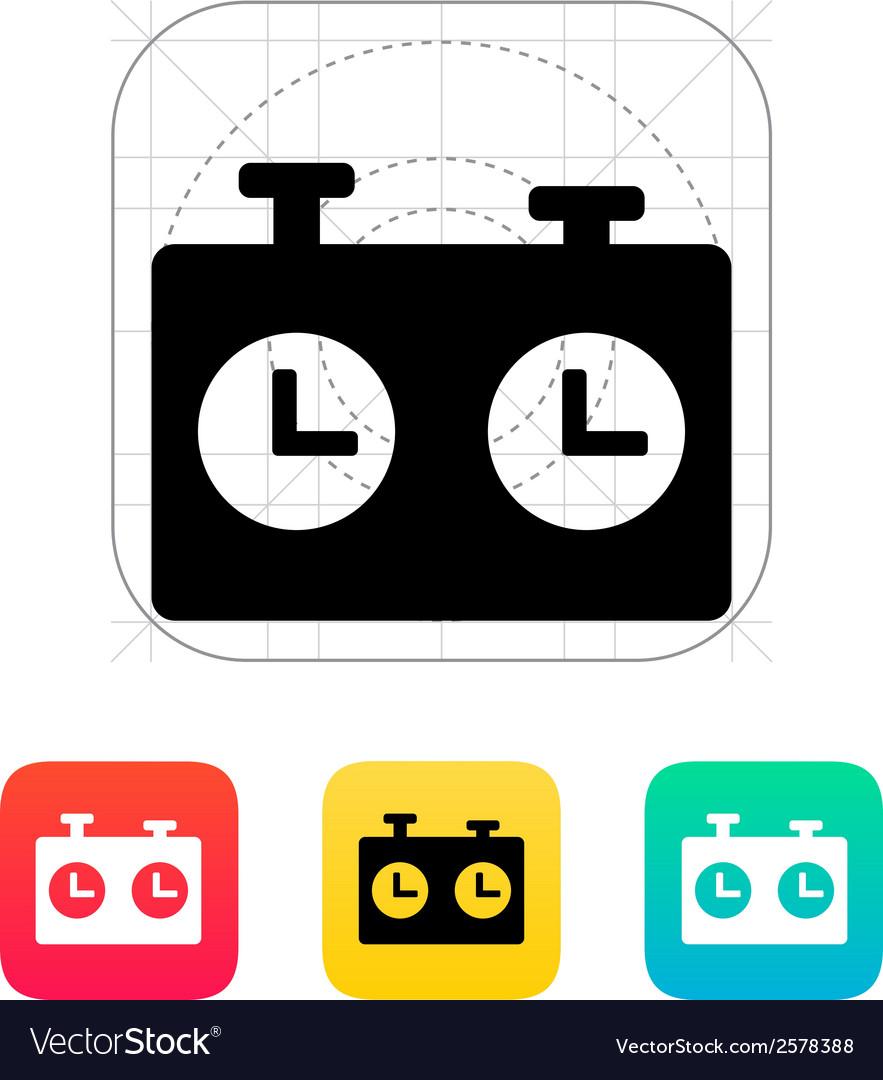 Chess clock icon vector | Price: 1 Credit (USD $1)