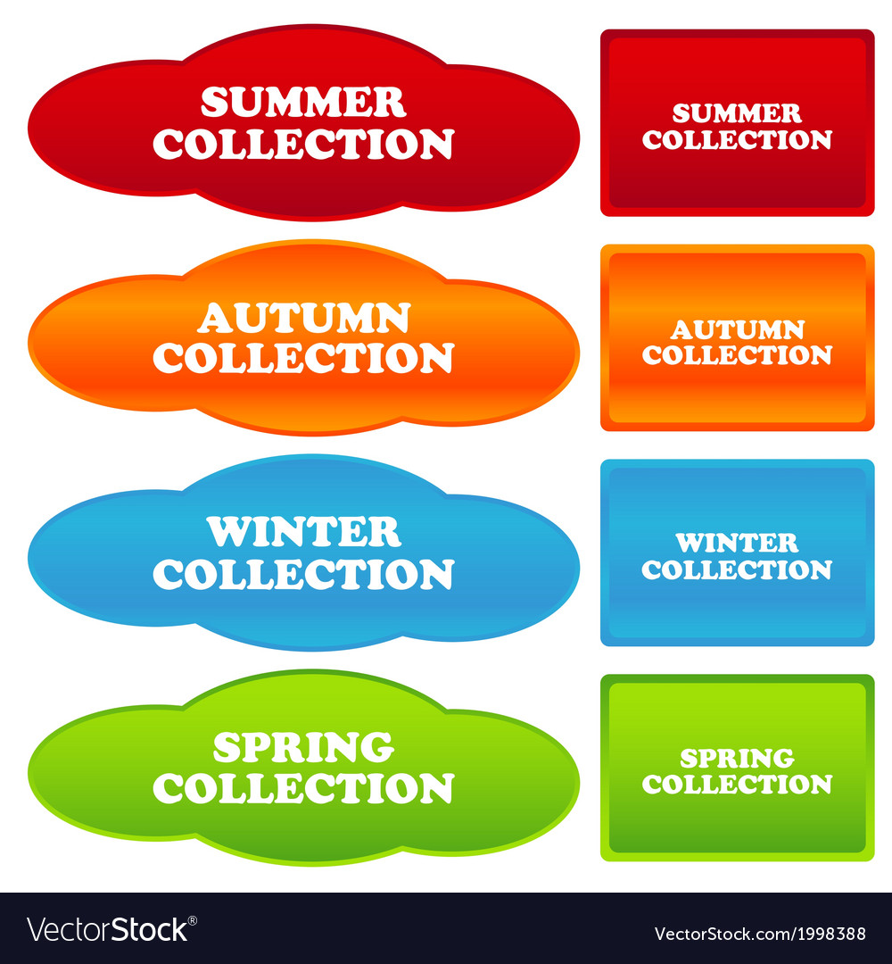 Collections banners vector | Price: 1 Credit (USD $1)