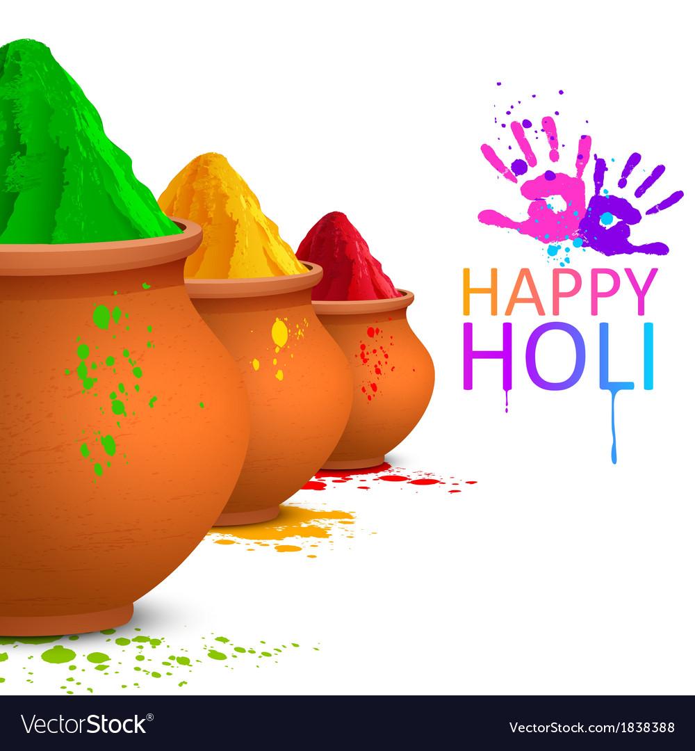 Colorful happy holi vector   Price: 1 Credit (USD $1)