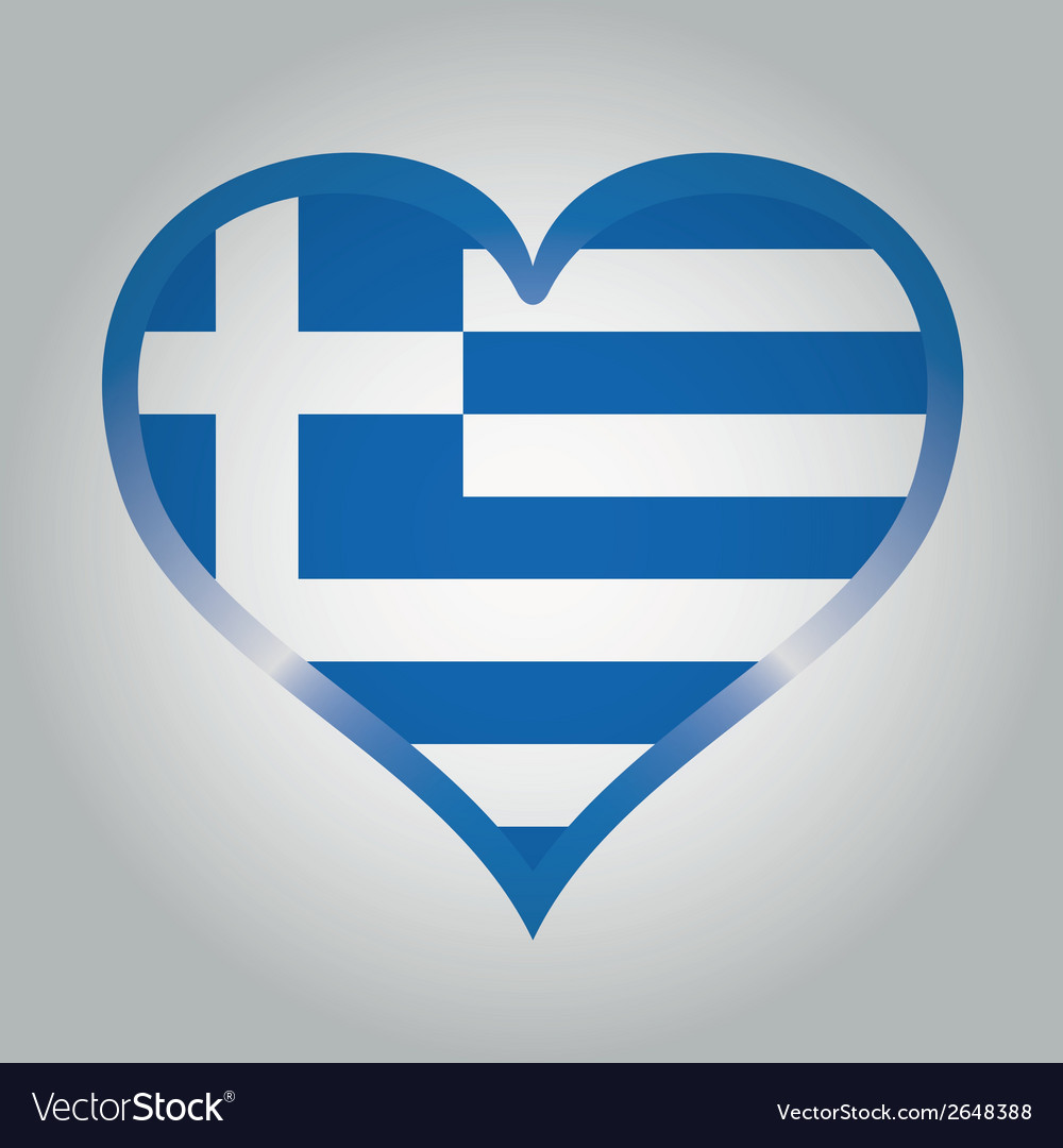 Flag from greece with its respective colors vector | Price: 1 Credit (USD $1)