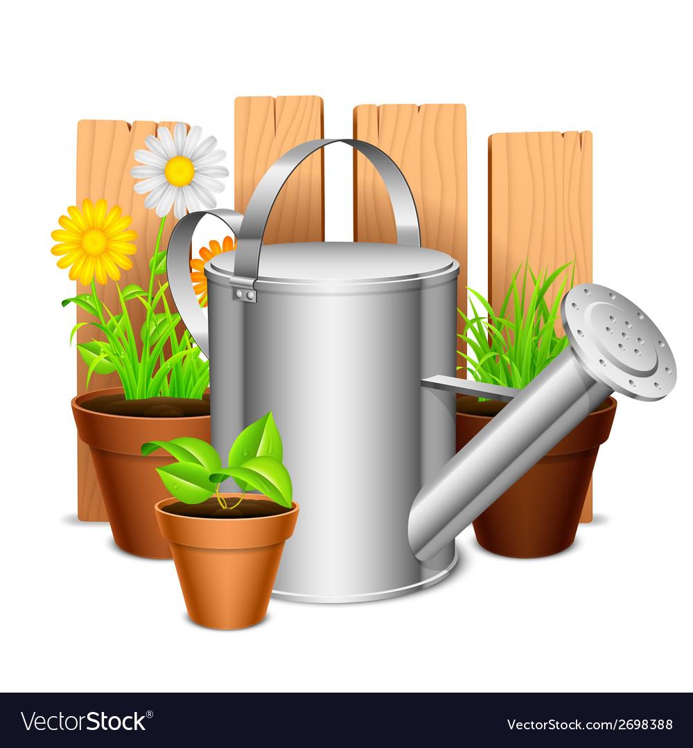 Garden equipment vector | Price: 1 Credit (USD $1)