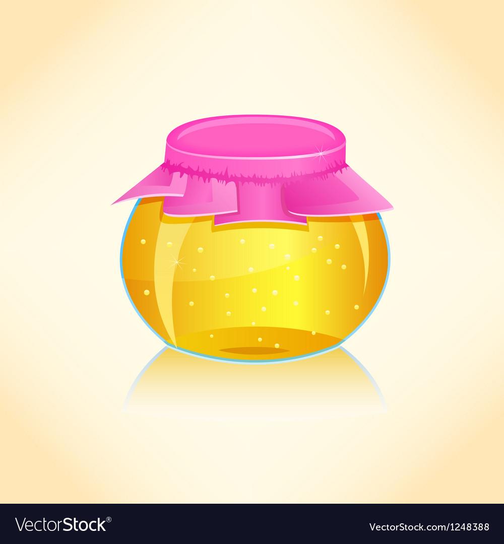 Honey jar vector | Price: 1 Credit (USD $1)