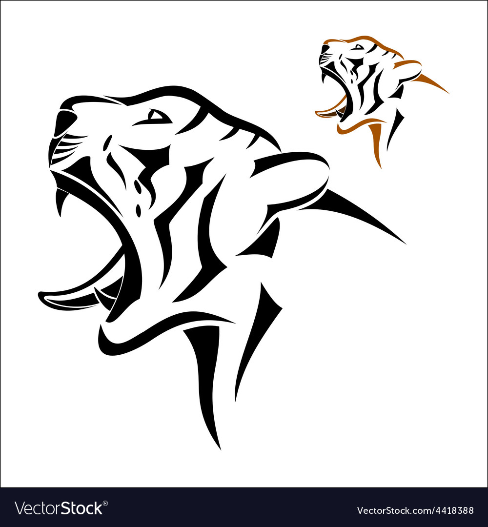 Tiger head symbol vector | Price: 1 Credit (USD $1)