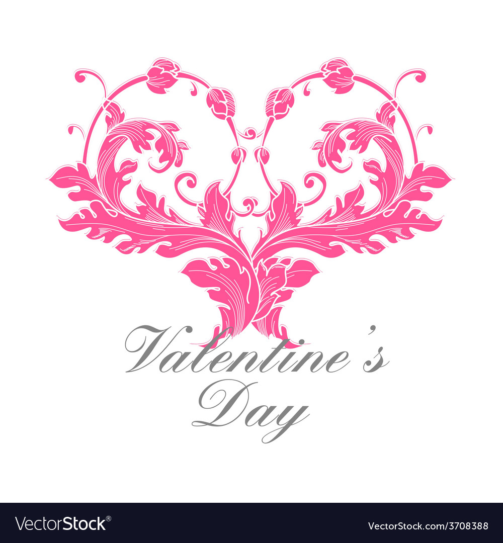 Valentines day greeting card vector | Price: 1 Credit (USD $1)