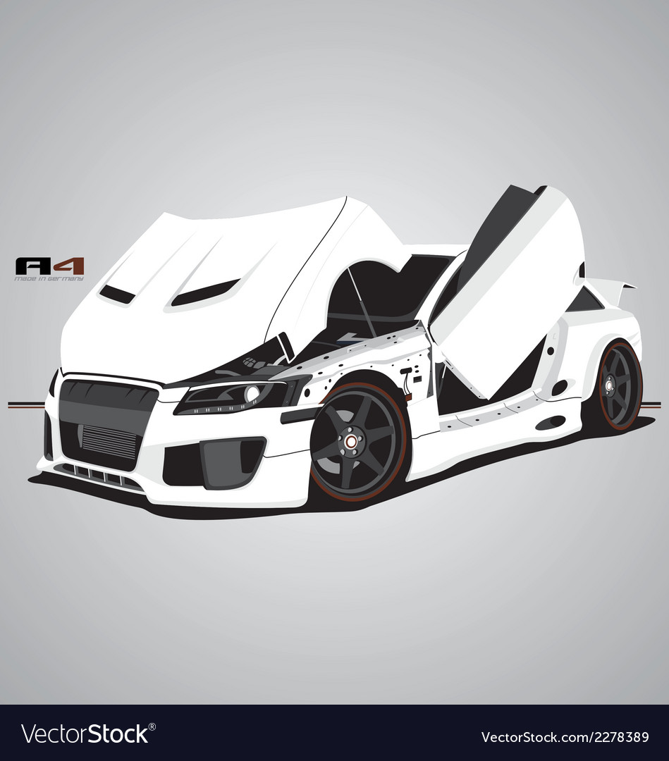 A4 car vector | Price: 1 Credit (USD $1)