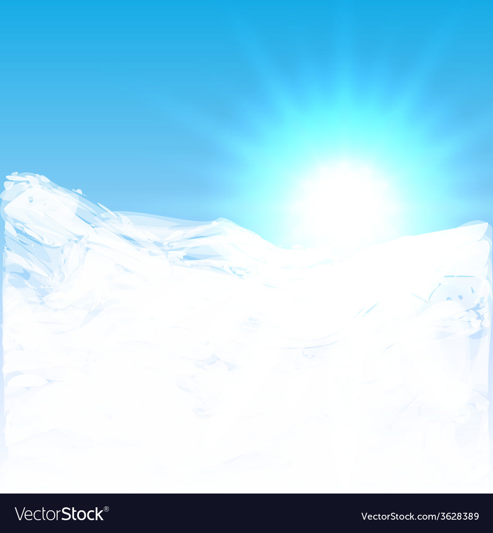 Abstract of sun shining above the clouds vector | Price: 1 Credit (USD $1)