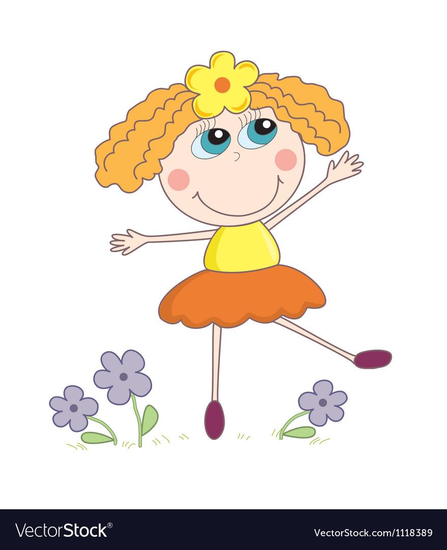 Cartoon girl vector | Price: 1 Credit (USD $1)