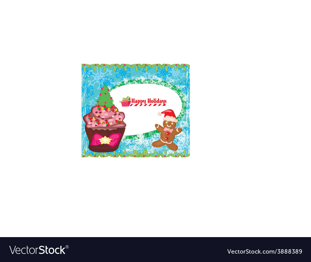 Christmas muffin card vector | Price: 1 Credit (USD $1)