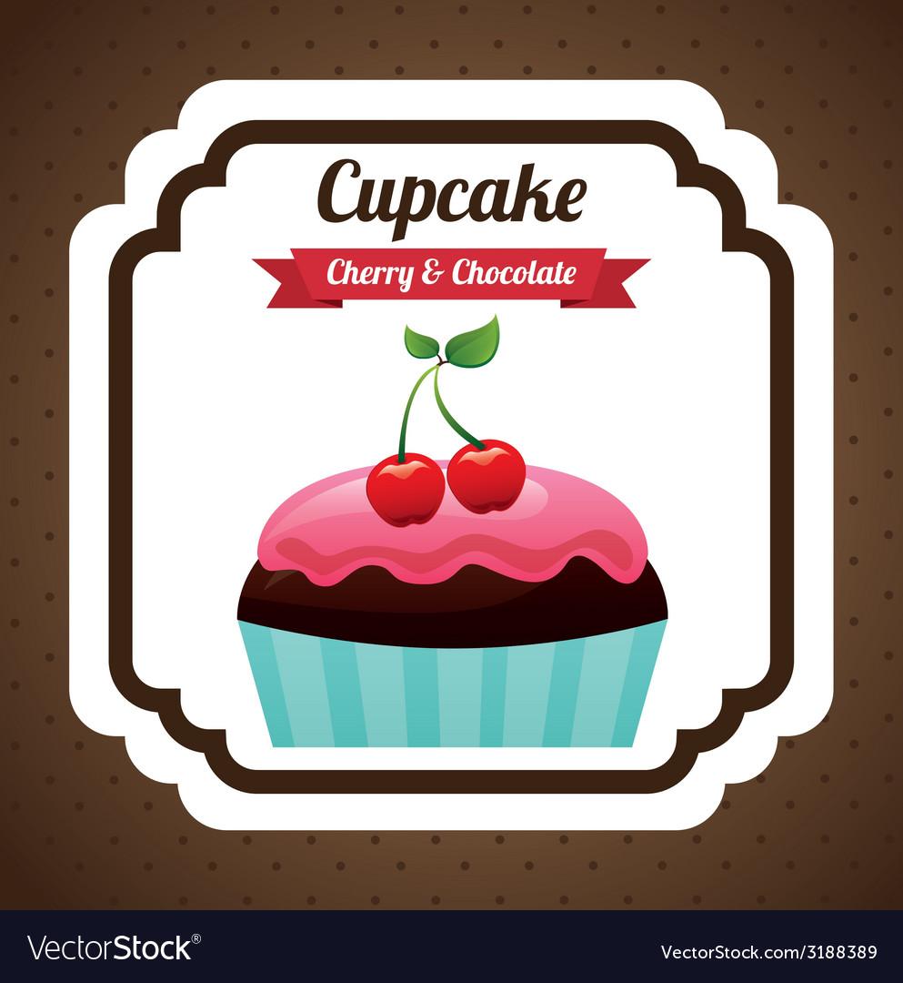 Cupcake design vector   Price: 1 Credit (USD $1)