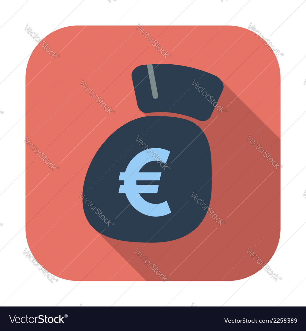 Euro flat icon vector | Price: 1 Credit (USD $1)