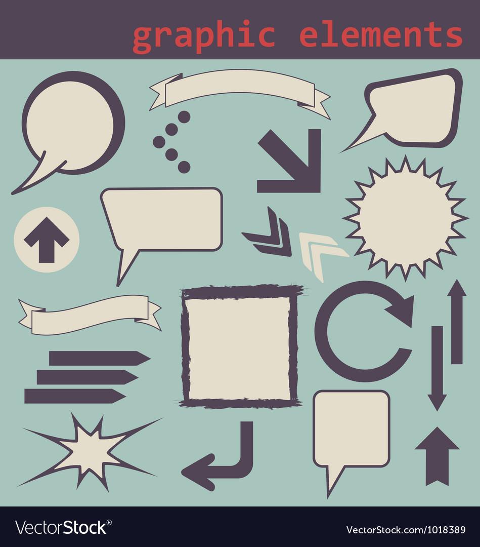 Graphic elements set vector | Price:  Credit (USD $)