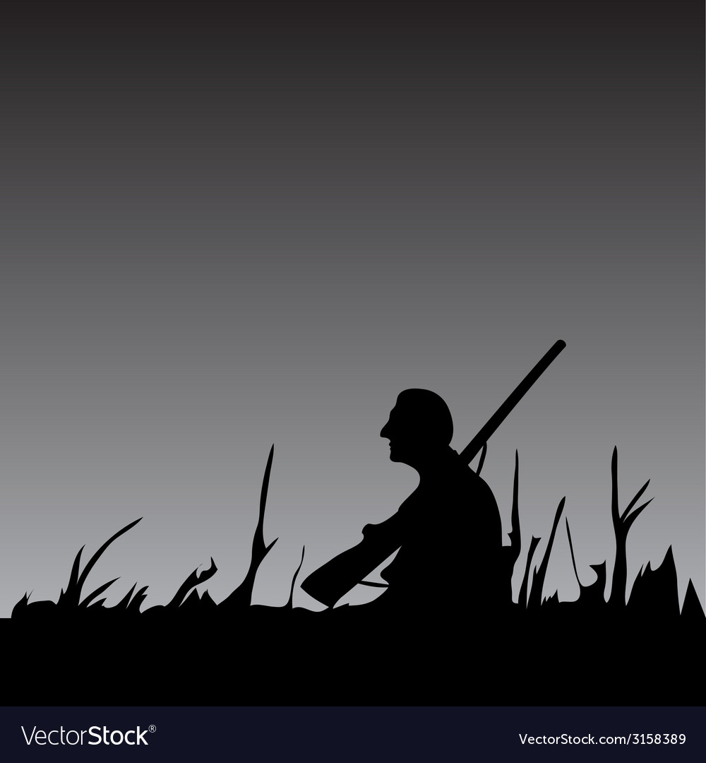 Hunter in the night vector | Price: 1 Credit (USD $1)