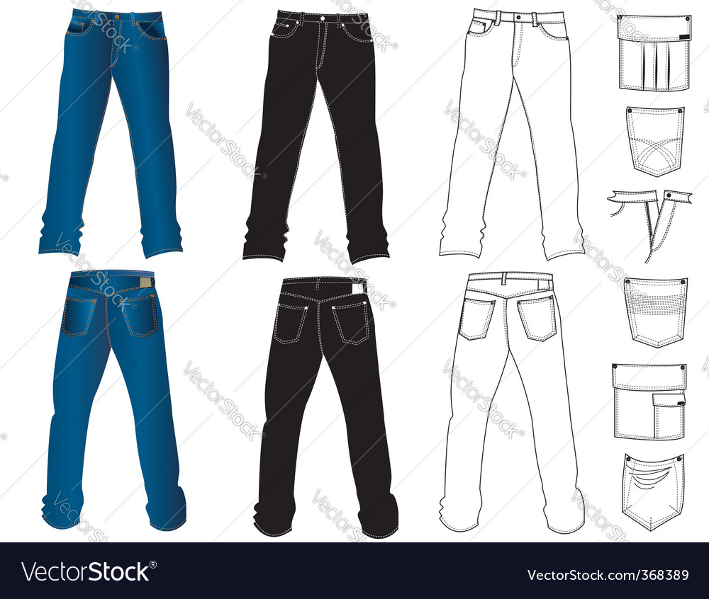 Jeans man vector | Price: 1 Credit (USD $1)