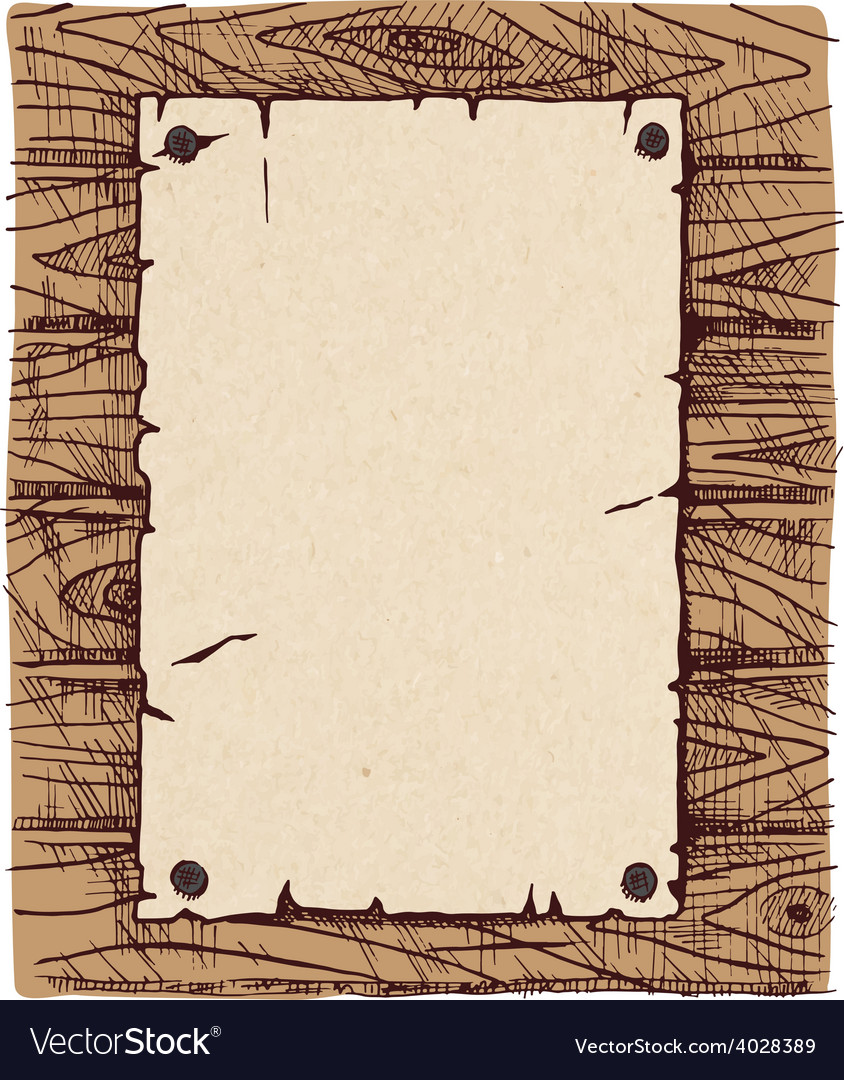Old paper on a wooden wall vector | Price: 1 Credit (USD $1)
