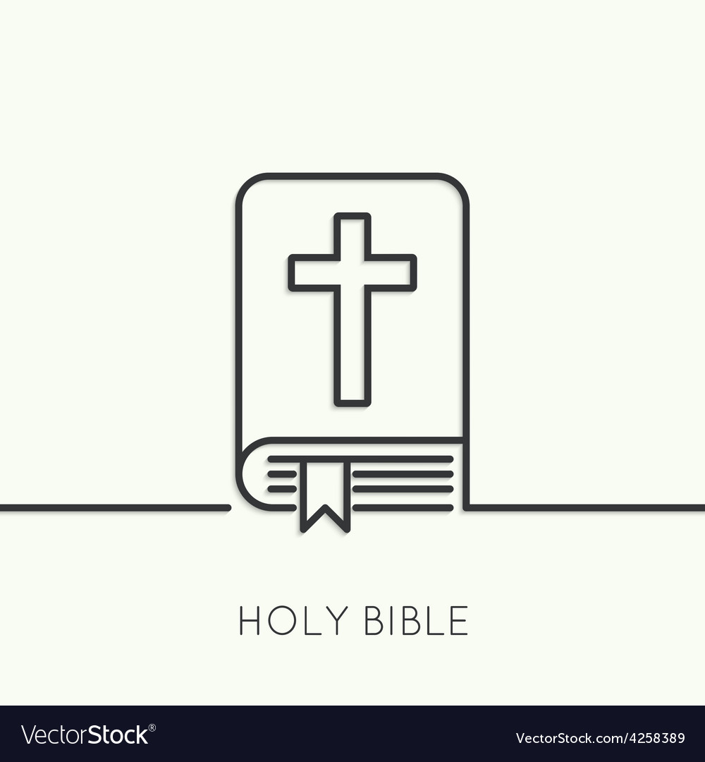 Open bible with a crucifix vector | Price: 1 Credit (USD $1)