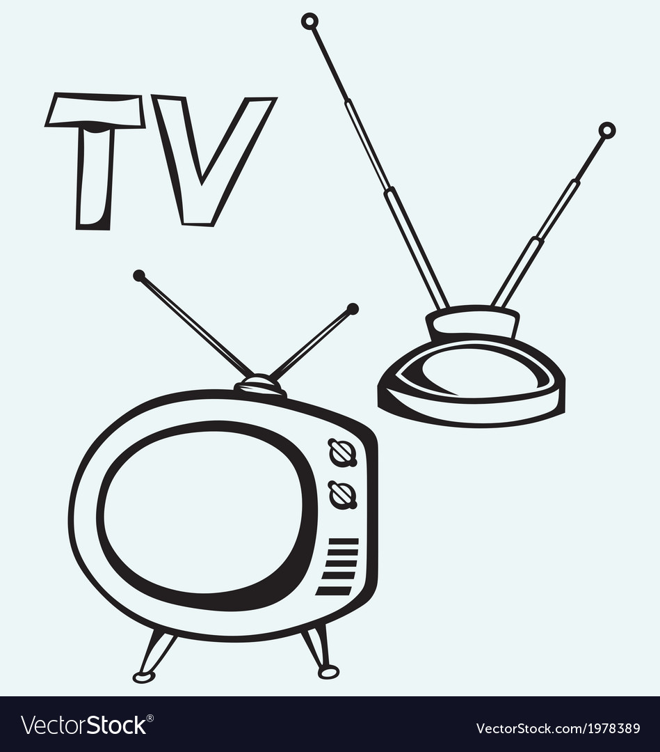 Retro tv vector | Price: 1 Credit (USD $1)