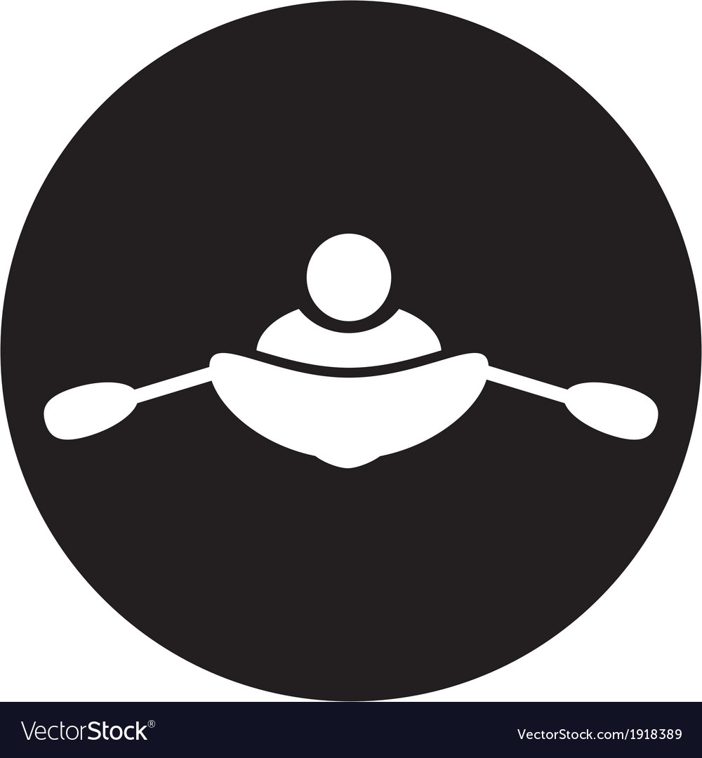 Rowing icon vector | Price: 1 Credit (USD $1)