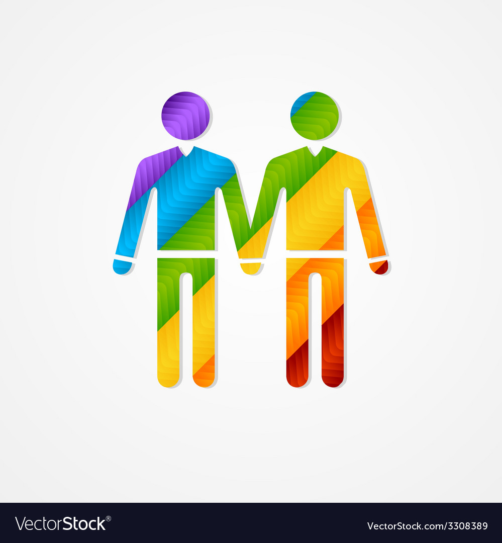 Sign of couple men lgbt card vector | Price: 1 Credit (USD $1)