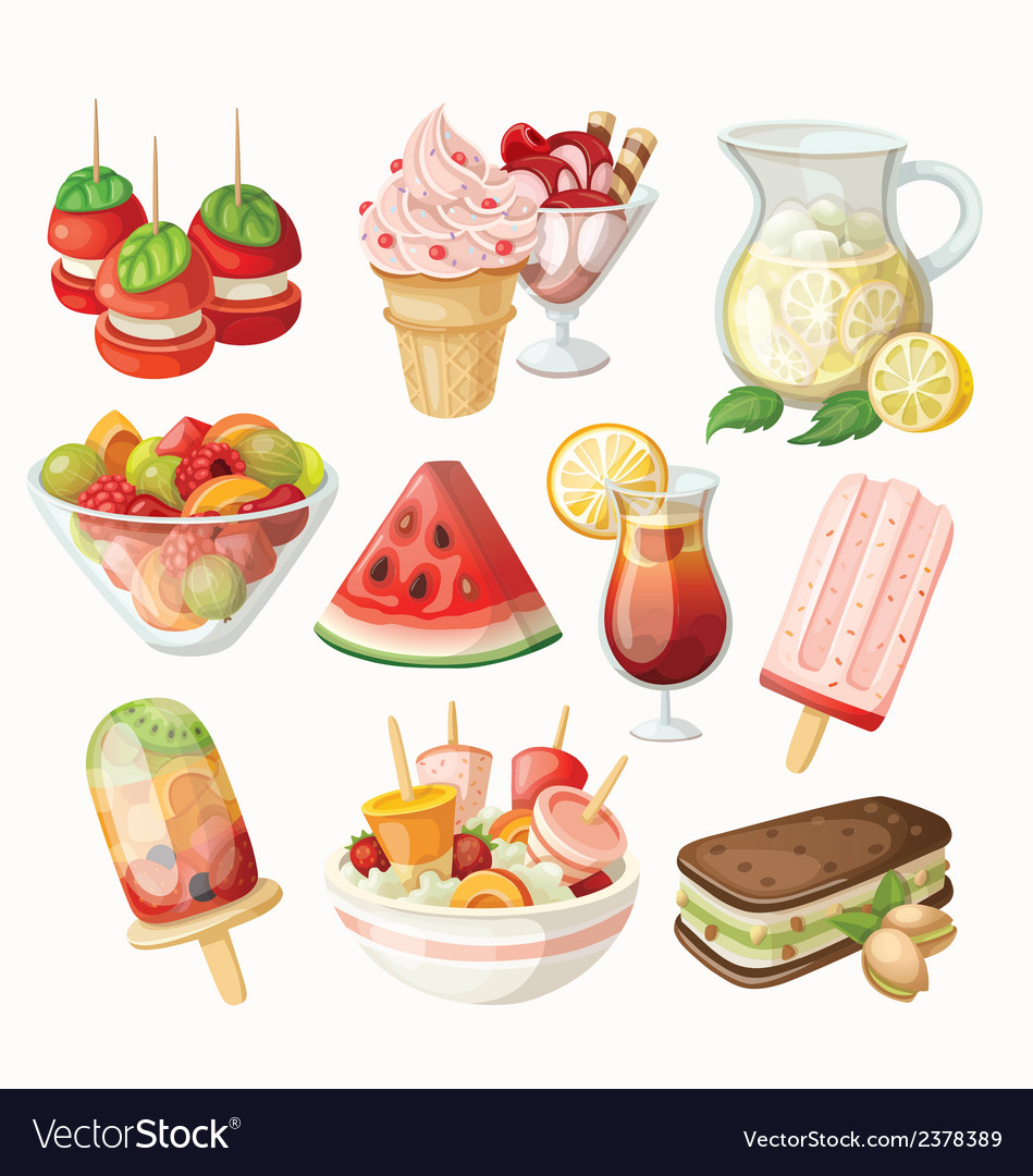 Summer food vector | Price: 3 Credit (USD $3)