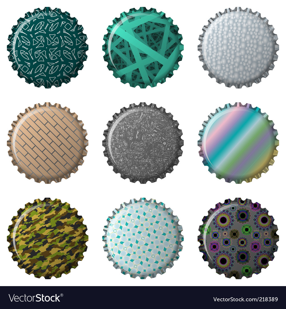 Textured bottle caps vector | Price: 3 Credit (USD $3)