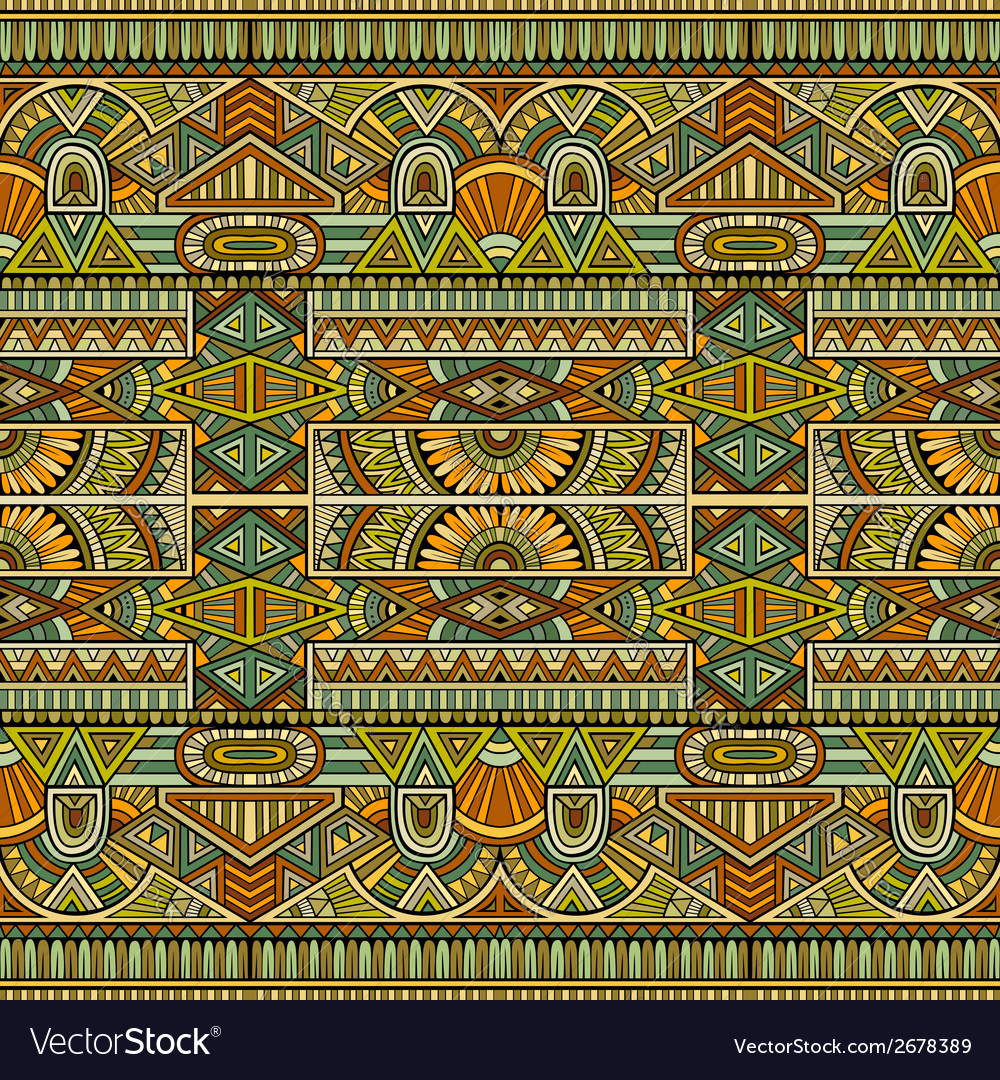 Tribal ethnic background seamless pattern vector | Price: 1 Credit (USD $1)