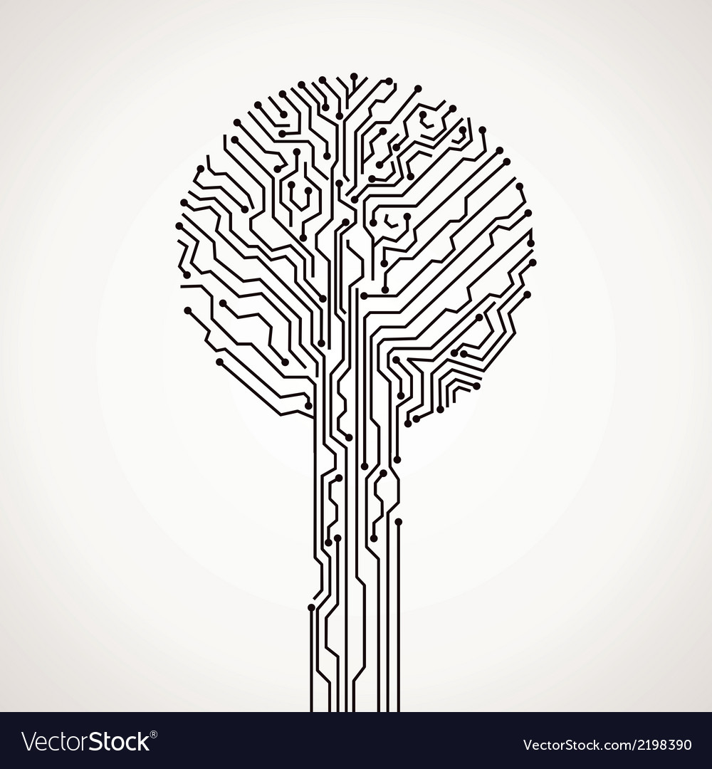 Creative electronic tree vector | Price: 1 Credit (USD $1)