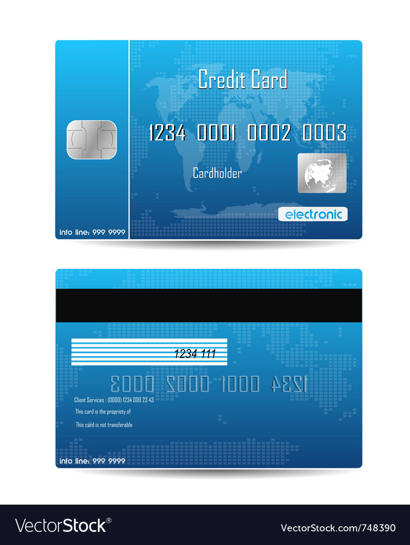 Credit card concept vector | Price: 1 Credit (USD $1)
