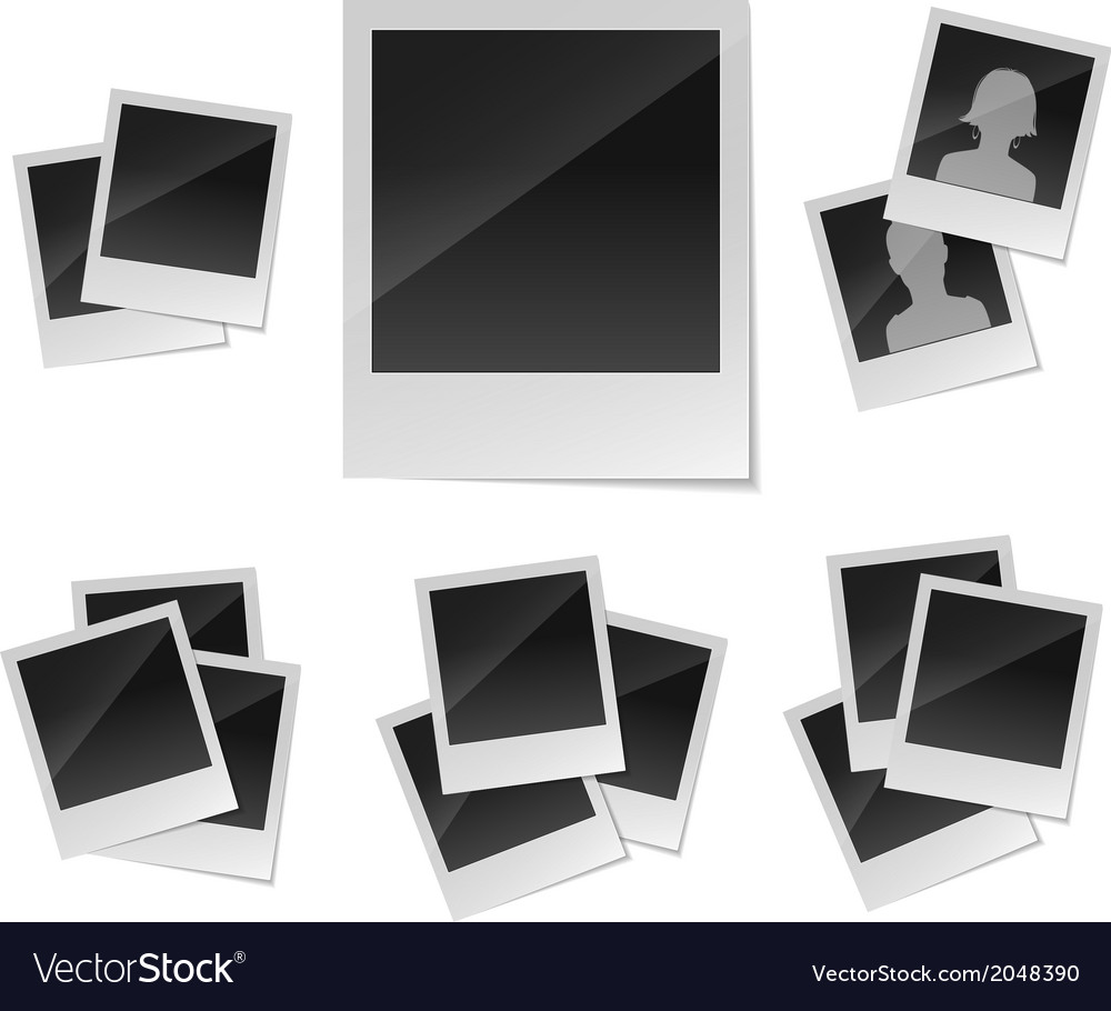 Empty photo frames set vector | Price: 1 Credit (USD $1)