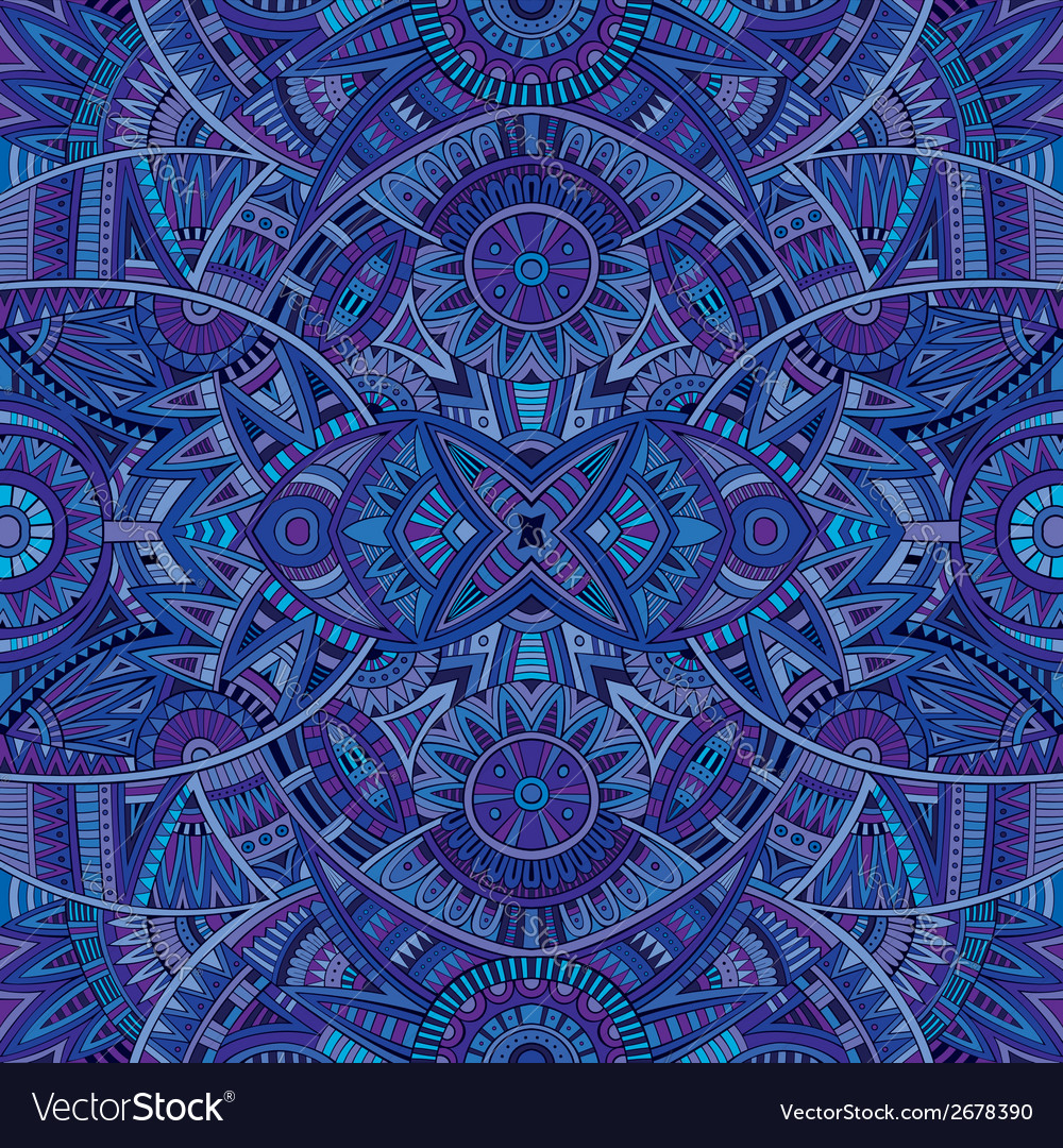 Ethnic background seamless pattern vector | Price: 1 Credit (USD $1)