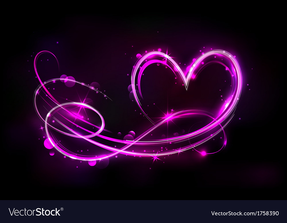 Glowing heart vector | Price: 1 Credit (USD $1)