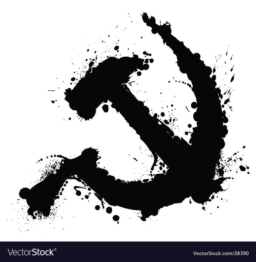 Hammer and sickle splatter element vector | Price: 1 Credit (USD $1)