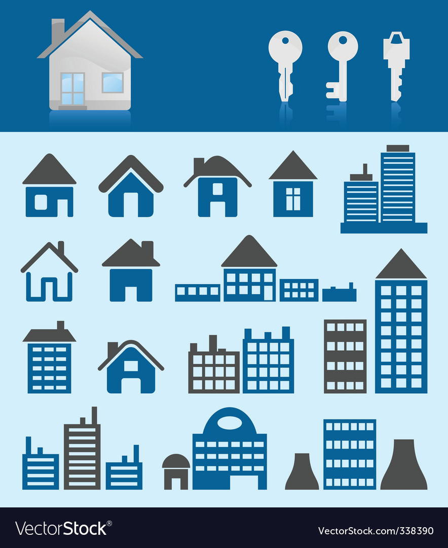 House icons3 vector | Price: 1 Credit (USD $1)