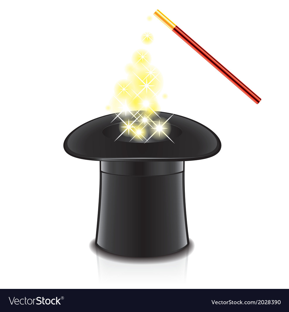 Object magic wand and hat vector | Price: 1 Credit (USD $1)